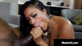 Busty Ass Fucked Asian Milf Maxine-X Is Butt Banged By A Big Black Cock!
