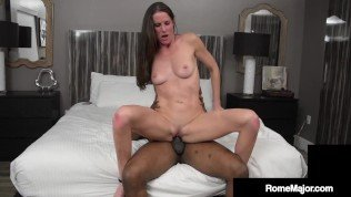 Hot Skinny Sofie Marie Fucked & Creampied By Big Black Cock Rome Major!!
