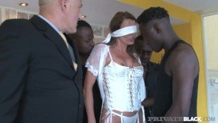 PrivateBlack – Hot Swiss Celebrity Caroline Tosca Milks 3 Big Black Cocks!