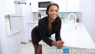 PropertySex – Sexy female property manager fucks pissed off tenant