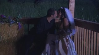 The Ebony Bride with Firm Body takes the most Cum on her Belly and Back Hard