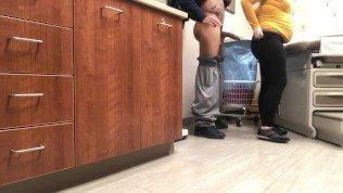 Thug fucks pregnant white woman at Dr. Office 365movies